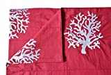 Amore Beaute Handcrafted Customisable Throw Blanket Coral Embroidered Cotton Blanket Coastal Throw...