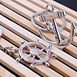 Xssbhsm Key chain 1 pair Rudder Anchor Key Chain 2021 Fashion Couple Key Ring Lovers Gift Ring...