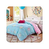 Wild-lOVE AB side bedding duvet cover Flannel Fleece + 100% cotton single Comforter cover 1pc...