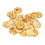 Relaxdays 10022524 Golden Pirate Coins, 288 Doubloon Toys, Pretend Money for Children Parties, PP,...