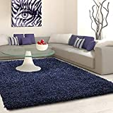 FlickBuyz Soft Touch Shaggy Navy Blue Thick Luxurious Soft 5cm Dense Pile Rug Area Rugs Modern...