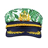 SOIMISS Unisex Embroidered Sailor Hat Captain Hat Adjustable Sailor Cap Yacht Cap Skipper Hat Navy...