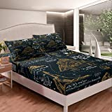 World Travel Bedding Set Nautical Theme Bed Sheet Set For Kids Adults Ocean Compass Anchor Printed...