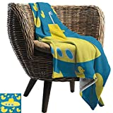 ZSUO cat blanket 60'x62' Inch Rubber Duck,Duckies Swimming in the Sea with a Yellow Submarine Kids...