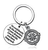 Madlst 1pc Inspirational Key Chains Graduation Gift Keychains Compass Pendant Keychains Go...