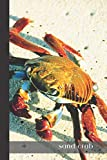sand crab: small lined Crab Notebook / Travel Journal to write in (6'' x 9'') 120 pages