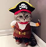 Hillento Pet Costume, Funny Cute Pet Dog Cat Pirate Clothes Suite Outfit for Halloween Christmas...