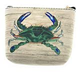 Value Arts Chesapeake Crab Coin Purse Pouch with Key Ring
