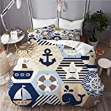 ALLMILL seamless nautical themed vector pattern on,College Dorm Room Decorative 3-Piece Bedding...