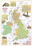 National Geographic: Travelers Map of the British Isles 1974 - Historic Wall Map Series - 23 x 32.75...