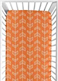 Fitted Crib Sheet for Orange and Navy Arrow Baby/Toddler Bedding Set Collection - Arrow Print