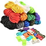 N\A WOWOSS 12 Colour Paracord Rope and Buckles Multifunction Tent Rope Paracord Bracelet 4mm Guy...