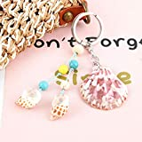 XHYKL 1Pc Scallop Snail Shell Keychain Nautical Summer Vacation Pendant Key Ring Gift For Women...