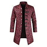 Overcoat Mens Steampunk Vintage Coat Victorian Jacket Autumn and Winter New Long Style Gothic...