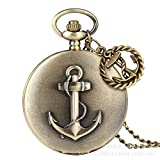 XAFXAL Vintage Women Men For Necklace Pocket Watch Unisex, Retro Boat Anchor Pocket Watch Necklace...