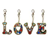 Bag Accessories Key Chain DIY Diamond Painting Full Drill Backpack Shoulder Bag Pendant Charm Letter...