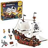 LEGO 31109 Creator 3-in-1 Pirate Ship, Inn & Skull Island Toys for Kids 9+ Years Old with...