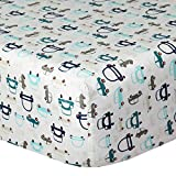 Cuddles & Cribs 1 Pack GOTS Certified Organic Cotton Fitted Crib Sheet - Cars