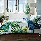 Gaveno Cavailia Luxury TROPICAL LEAF Bed Set with Duvet Cover and Pillow Case, Polyester-Cotton,...