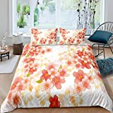 Loussiesd Peach Blossom Comforter Cover for Girls Kids Teens,Spring Pink Floral Flowers Bedding Set...