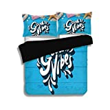 LIS HOME Black Duvet Cover Set,Good Vibes,Good Summer Vibes Gone to The Beach Holiday Theme with...