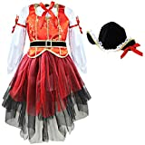 MSemis Kids Girls Deluxe Little Pirate Costumes Princess Halloween Cosplay Tutu Dress with...