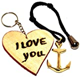 Sabri Home Gifts Brass Key Chain, Anchor Keychain Nautical Anchor Key Ring