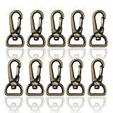 RETON 10 Pcs 13mm Metal Swivel Clasps Bag Clasps Lobster Swivel Trigger Clips Snap Hook For...