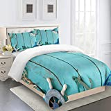 RQXRTR Duvet Cover Bedding Set Easy Care Microfiber Duvet Set King Size 3 Pcs, Quilt Cover Set...