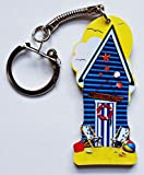 Blue Beach Hut Keyring - BHBK