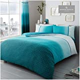 Gaveno Cavailia Luxury URBAN OMBRE Bed Set with Duvet Cover and Pillow Case, Polyester-Cotton, Teal,...