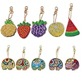 DIY Key Chains Diamond Painting by Numbers Kits,Rhinestone Mosaic Making Decorative Art for Adult...