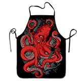 Bettiboy Cthulhu Octopus Sign Pentagram Chef Apron Machine Washable Comfortable Aprons Plus Size For...