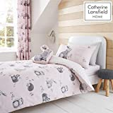 Catherine Lansfield Woodland Friends Easy Care Single Duvet Set Pink