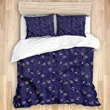 Ttrsudddsyy Duvet Cover Sets Bed Sheets,Anchor Nautical Composition Helm,3 Piece Bedding Set with 2...