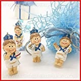 Wholesale and Save 12 Resin Keychains Sailor with White and Blue Divise, Theme Favors, Male Birthday...