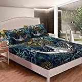 Anchor Decor Bed Sheets Ocean Nautical Compass Bed Sheet Set for Kids Boys Girls Adults Sea...