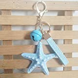 Hot New Cartoon Sea World Starfish Pearl Shell Keychain Key Chain Keyring Crystal Pendant Keychain...
