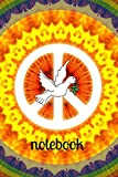 Notebook: Hippy Peace Homework Book Notepad Notebook Composition and Journal Diary