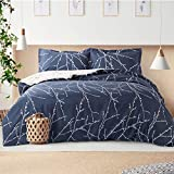 Bedsure Duvet Cover Set Single - Branch Pattern Microfiber Bedding Sets 2 pcs with Zipper Closure,...