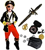 Tacobear Pirate Costume for Kids with Pirate Accessories Pirate Eyepatch Dagger Compass Purse...