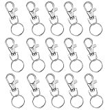 15 Pcs Detachable Swivel Clasps Key Split Ring Clips Keychain Hooks for Hanging Crafts Suppliers...