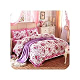 Wild-lOVE Multi Color Garden Flowers Duvet Cover Set Pure Cotton Soft Bedding set Quilted Bedskirt...