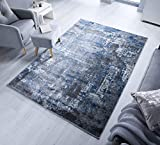 - LordofRugs - WONDERLUST TRENDY ABSTRACT SOFT RUG SMALL TO LARGE CARPET RUNNER MAT (BLUE/GREY, 120...