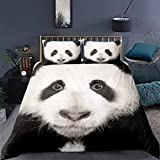 Animal Duvet Cover Single Size Panda Printed Comforter Cover for Adult Teens Boys Girls Cute Decor...