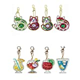 Jestang Keychains Diamond Painting Kits, Full Drill Diamond Painting DIY Set Keychain Key Ring Gift...
