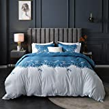 Single Size Embroidered Jacquard Duvet Cover European Floral Printed Comforter Cover for Girls Woman...