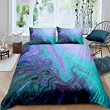 Loussiesd Marble Printed Bedding Set for Girls Boys Children Abstract Art Comforter Cover Decorative...
