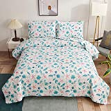 Coastal Quilts Set Conch Seashell Starfish Bedding Full/Queen Size,3Pcs Lightweight Beach Bedspreads...