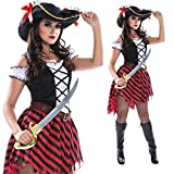 Womens Sexy Pirate Wench Costume Female Pirates Dress Quality Outfit For Women - Medium